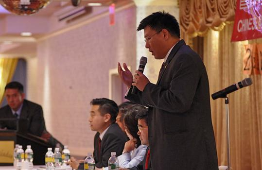 James Wu, one of two Chinese-Americans for the Democratic ballot