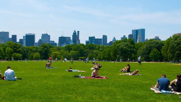 Sunscreen, skyline, summer... how much better could Central Park get?