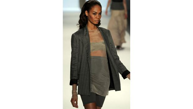 September 9, DAY 1: A model gives fierce to the masses from the Richard Chai runway presentation.