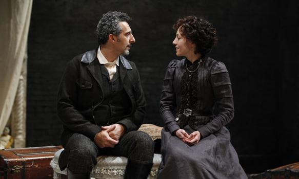"John Turturro and Juliet Rylance in ""The Cherry Orchard."""