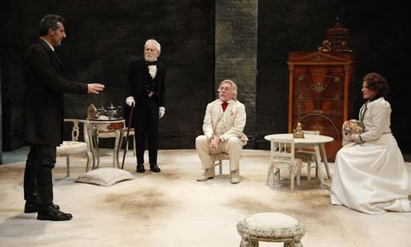 "John Turturro, Alvin Epstein, Daniel Davis and Dianne Wiest in ""The Cherry Orchard."""