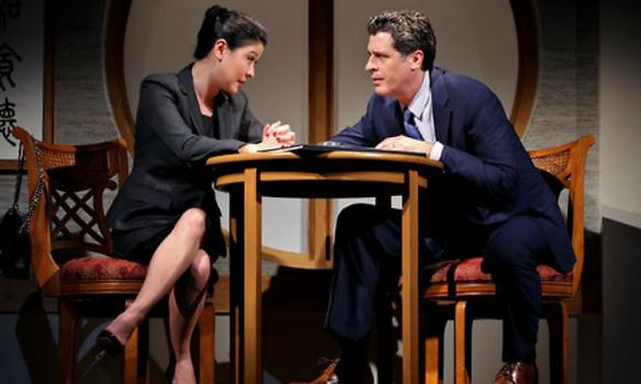 "Jennifer Lim and Gary Wilmes in David Henry Hwang's play ""Chinglish."""