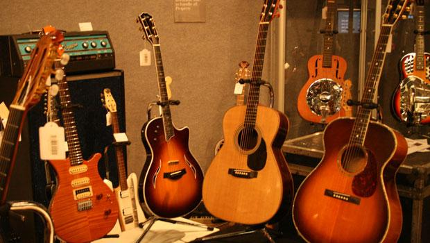Eric Clapton's guitars sold for more than estimated at Bonhams on March 9.