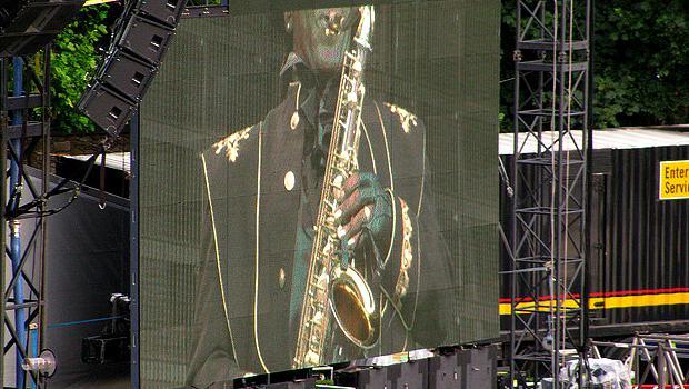 The Big Man playing in Dublin, Ireland in 2009.