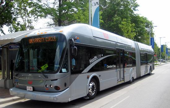 Cleveland Regional Transit Authority's new Rapid Transit Vehicle.