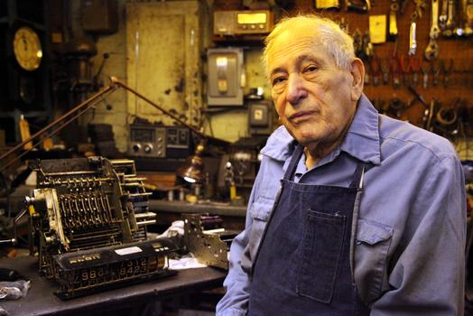 Bernard Faerman, owner of Faerman Cash Register Co.
