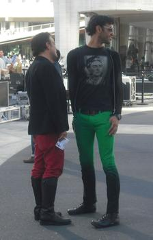 Colorful pants at Fashion Week