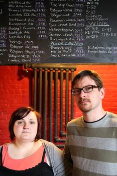 Brooklyn Homebrew owners Danielle Cefaro and Benjamin Stutz