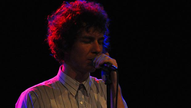 Brad Hargett of Crystal Stilts at Bowery Ballroom on August 19.