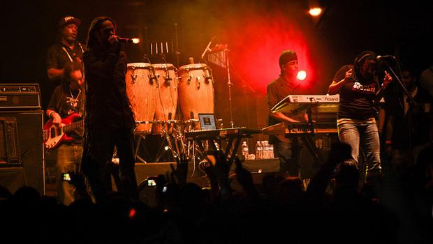 Damian Marley performs at the Williamsburg Waterfront on July 31.