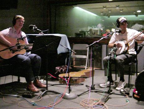 """Daughters Will Tune You"" in the WNYC studio."