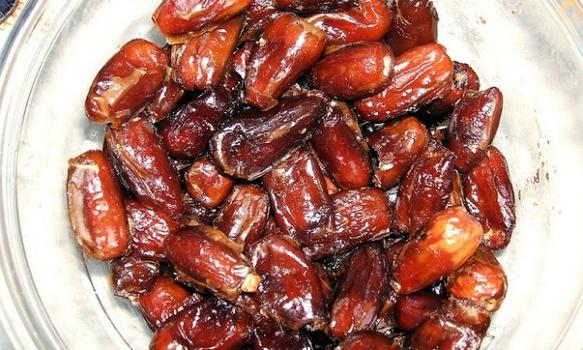 During Eid ul-Fitr, it's customary to start off the day with something sweet like dates.