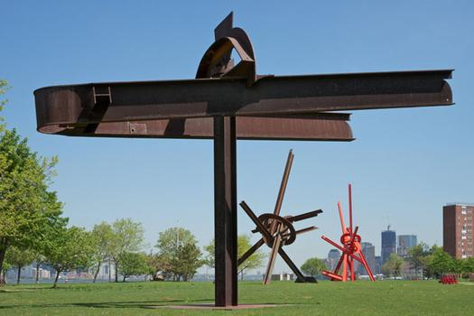 "Mark di Suvero's ""Mahatma,"" made between 1978 and 1979. The steel sculpture stands 22 feet high on Governorrs Island and is 20 feet wide."