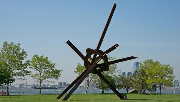 """Will"" was made by di Suvero in 1994 and is also part of the Governors Island show."