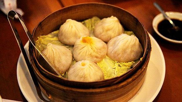 Steamed soup dumplings at Nan Xiang Dumpling House.