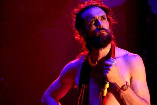 Edward Sharpe of Edward Sharpe and the Magnetic Zeros at Webster Hall on July 23rd