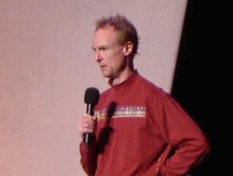 <strong>Host John Schaefer at the World Financial Center, 11/12/04. </strong>