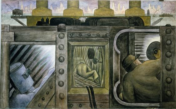 Diego Rivera. Electric Power. 1931-32.
