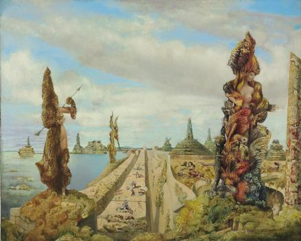"Max Ernst, ""The Stolen Mirror,"" fetched $16,322,500 at Christie's on Tuesday."