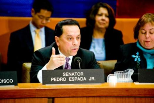 Senator Espada at a House hearing