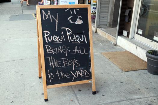 The chalkboard outside of Maharlika.