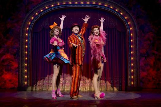 "Jennifer Foote, Danny Burstein and Kiira Schmidt in 'Follies."""