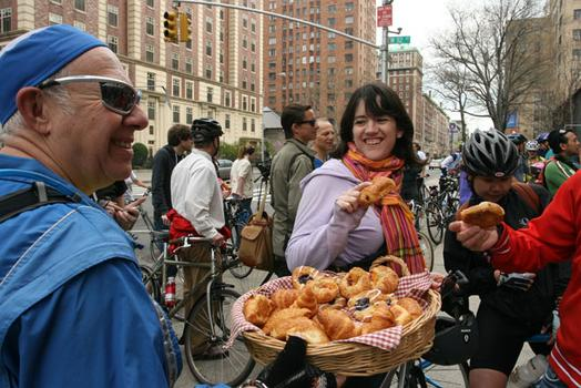 Free snacks for hungry bikers