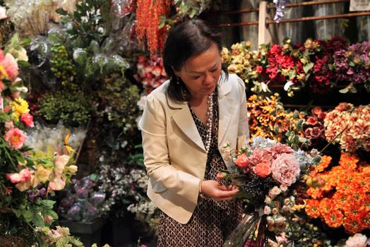 Mimi Rasamee, owner of Pany Silk Flowers.