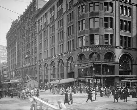 Gimbels, Philadelphia, between 1900 and 1910