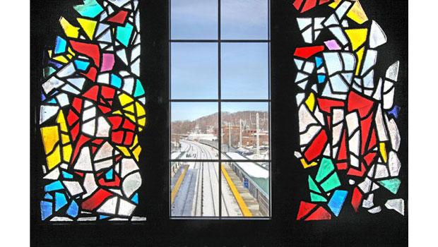 'K—M—G' (2010) by Robert Goodnough, Ossining Station, MTA Metro-North Railroad.