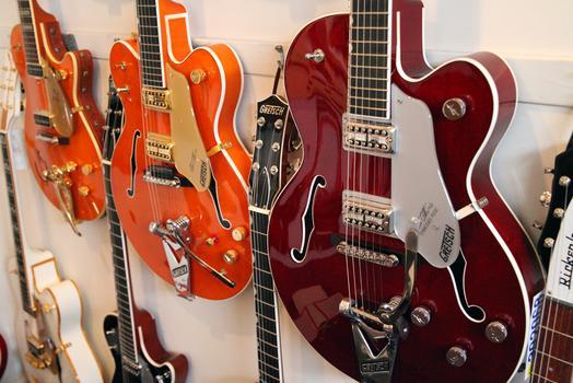 Guitars at Mandolin Brothers.