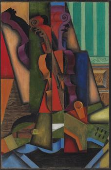 Christie's sold the 1913 oil painting <em>Violon et guitare</em> by Juan Gris for $28.6 million. It had thought it would get between $18 and $25 million.