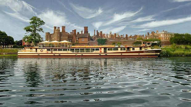 The Spirit of Chartwell, pictured here in front of Hampton Court Palace, will also be part of the pageant.