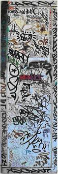 """White Panel (Collab. With Graffiti Artists)"" by Keith Haring sold for over $34,000."
