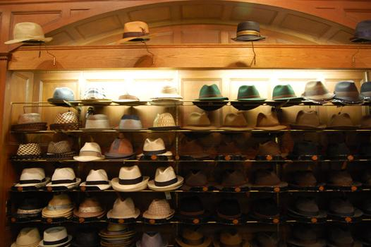 Hats line the walls of J.J. Hat Center