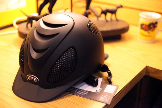 The GPA Helmet is the most popular item at Manhattan Saddlery.