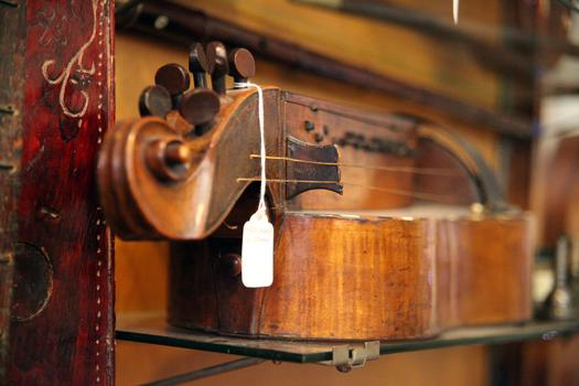 A late 17th century French hurdy gurdy.