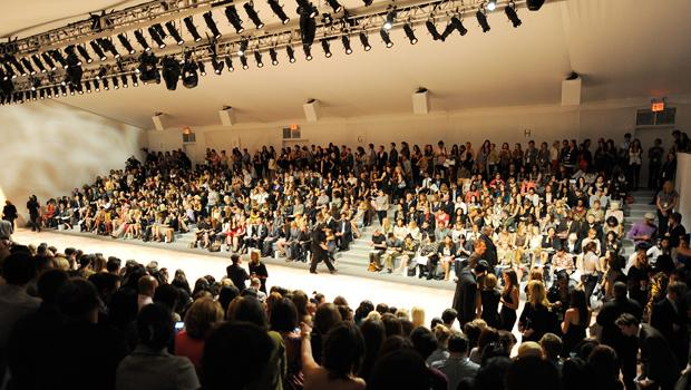 A general view of atmosphere around Lincoln Center during Mercedes-Benz Fashion Week on September 9, 2010 in New York City.