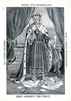 1833 King Andrew the First Lithograph