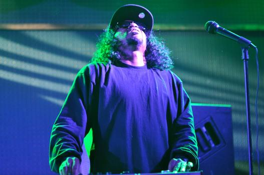 Dam Funk gets in the the groove at Knitting Factory in Brooklyn on July 20th