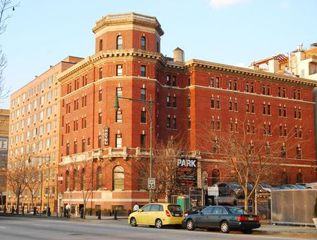 The Jane Hotel as it stands now on the West Side Highway and Jane Street.