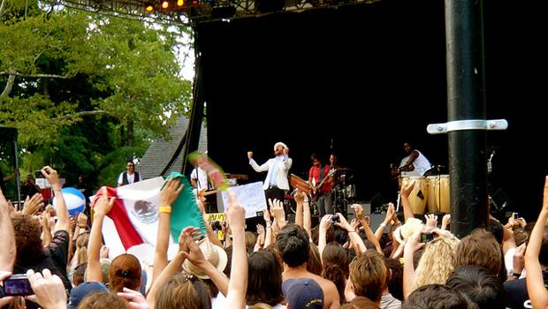 Italian singer-songwriter and rapper Jovanotti performs at Summerstage in Central Park on July 31.