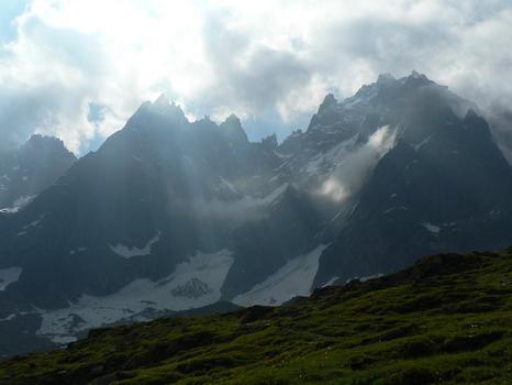 The mountains near Chamonix.