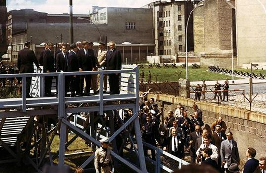 President Kennedy at the Berlin Wall.