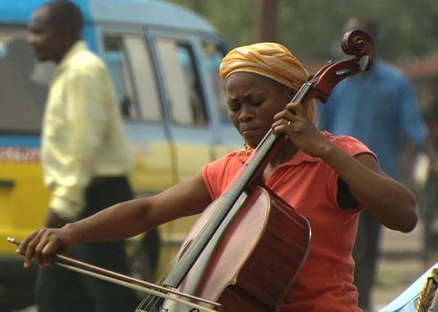 Cellist Josephine Nsimba.