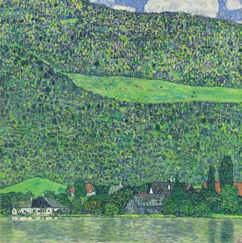 "Gustav Klimt's ""Litzlberg am Attersee"" sold at Sotheby's for $40,402,500."