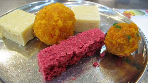 The South Asian treats ladoo and burfi are served up for Eid.
