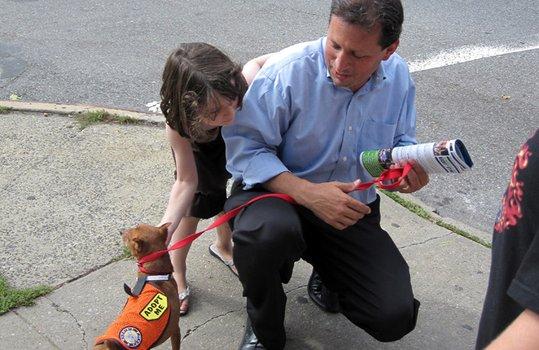 Brad Lander and his daughter