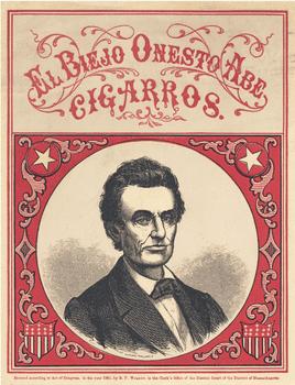 """1860 Lincoln Cigar Ad """"El Biejo Onesto Abe"""""""