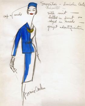 Bonnie Cashin's design for a Lincoln Center tour guide, ca. 1960